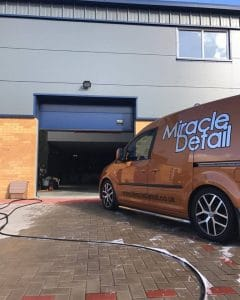 mobile car detailing unit